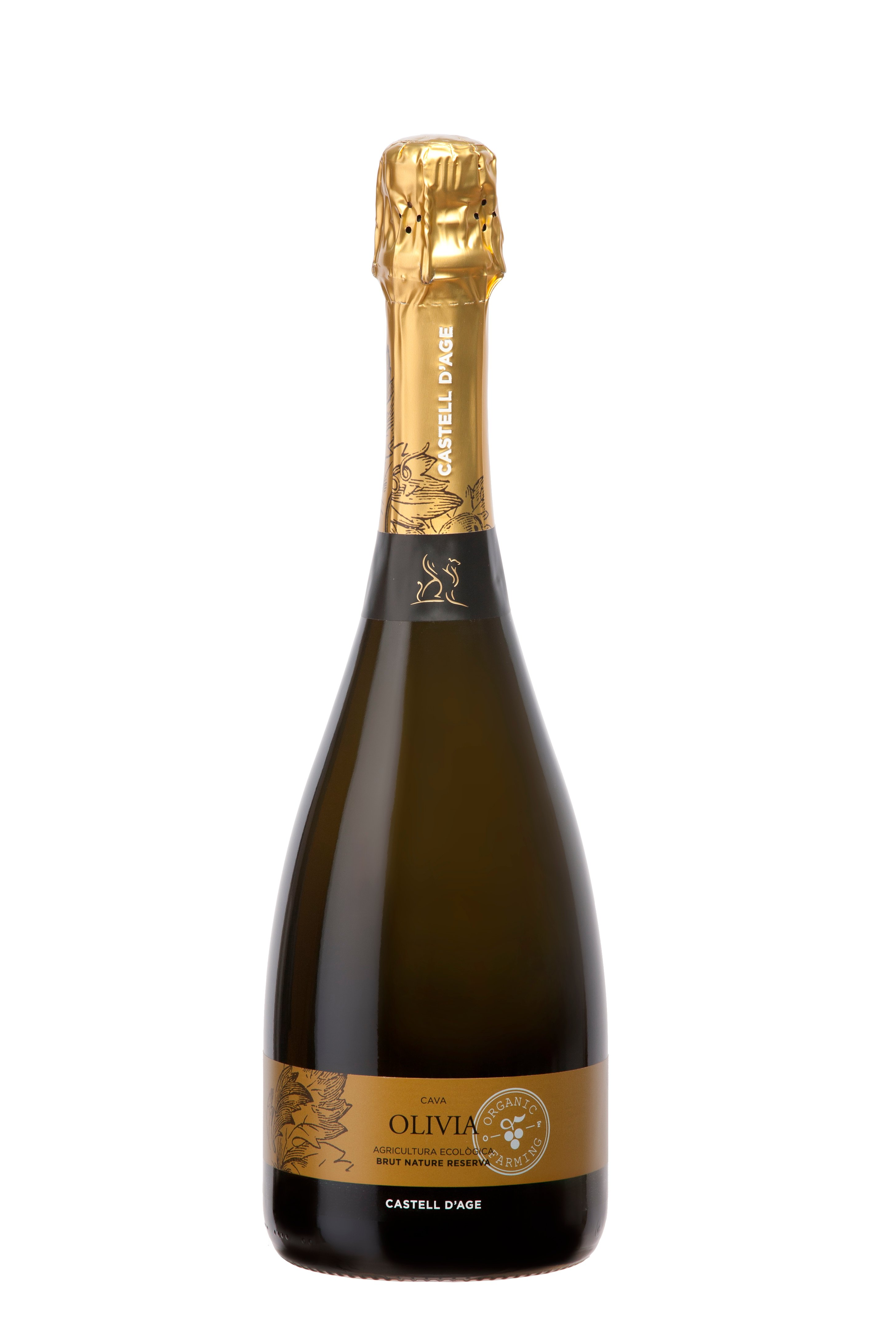 CAVA Olivia Brut Nature Reserva - 20 months aging  (100% Chardonnay)